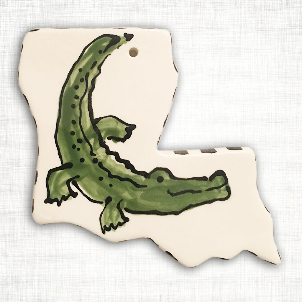 Louisiana Alligator Ornament