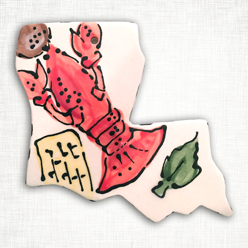 Louisiana Crawfish Ornament