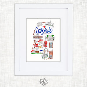 Oxford Watercolor Print