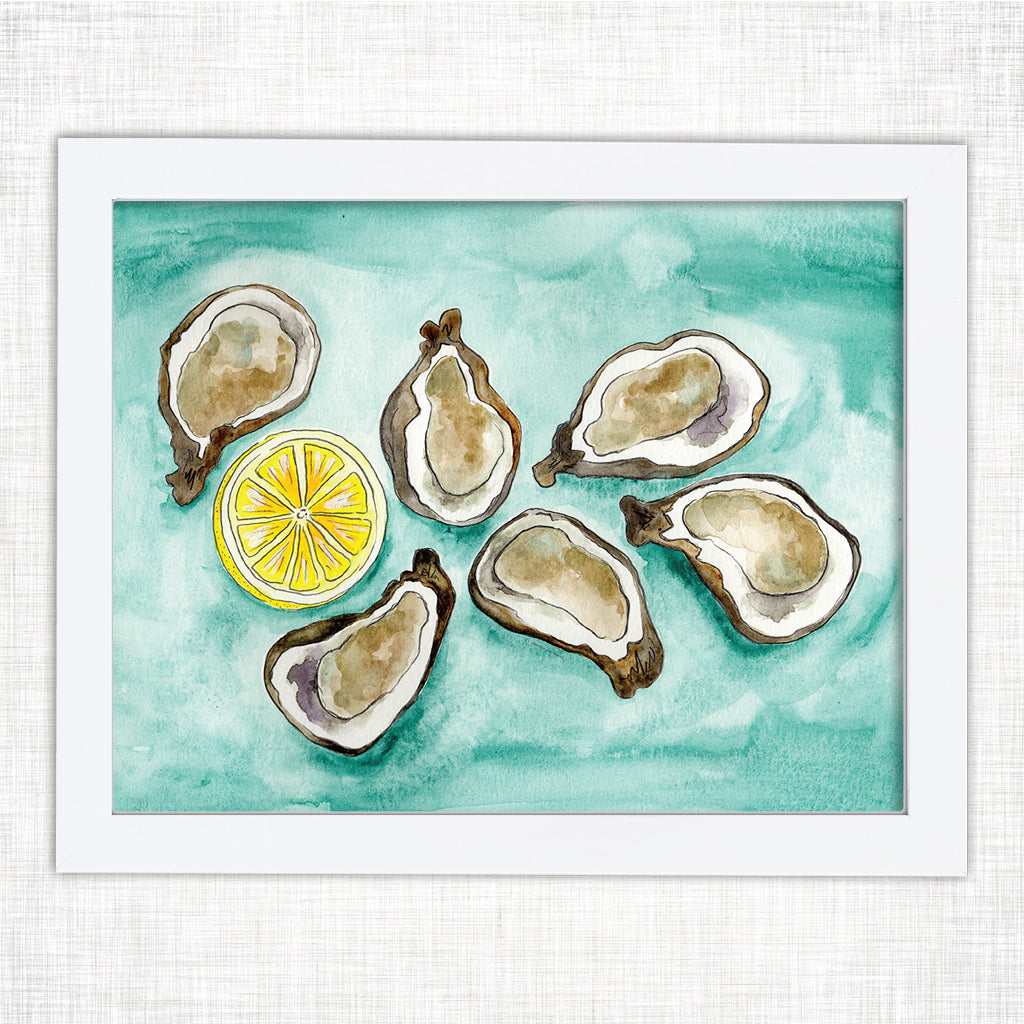 Oysters Group Art Print