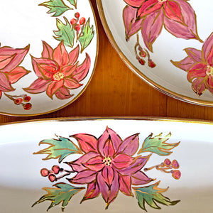 Poinsettia Bread Tray
