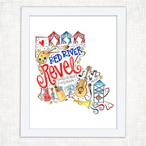 Red River Revel Art Print