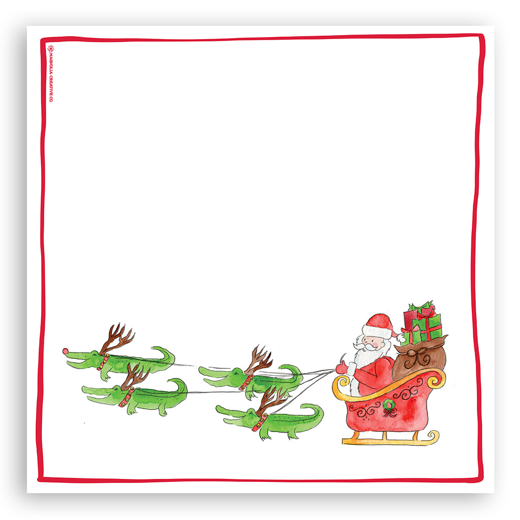 Santa's Sleigh Kitchen Towel