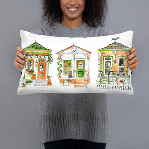 Halloween Houses Lumbar Pillow