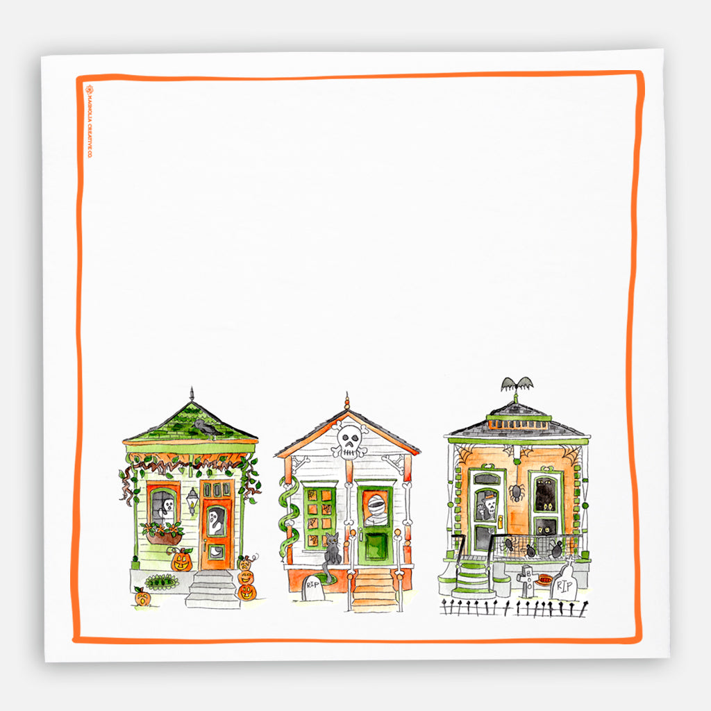 Halloween Houses Kitchen Towel