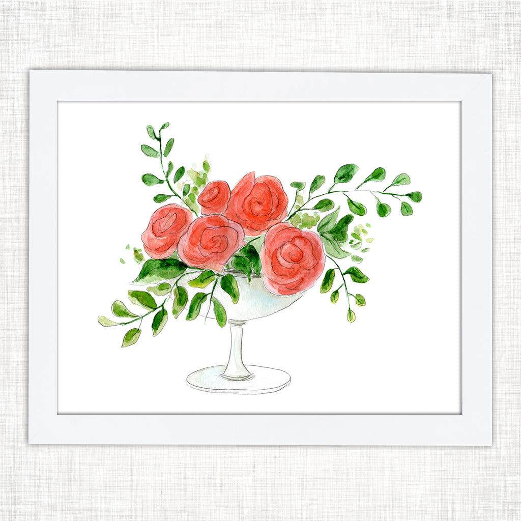 Shreveport Rose Art Print