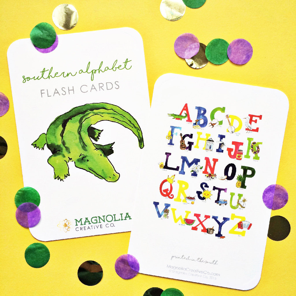 Southern Alphabet Flash Cards