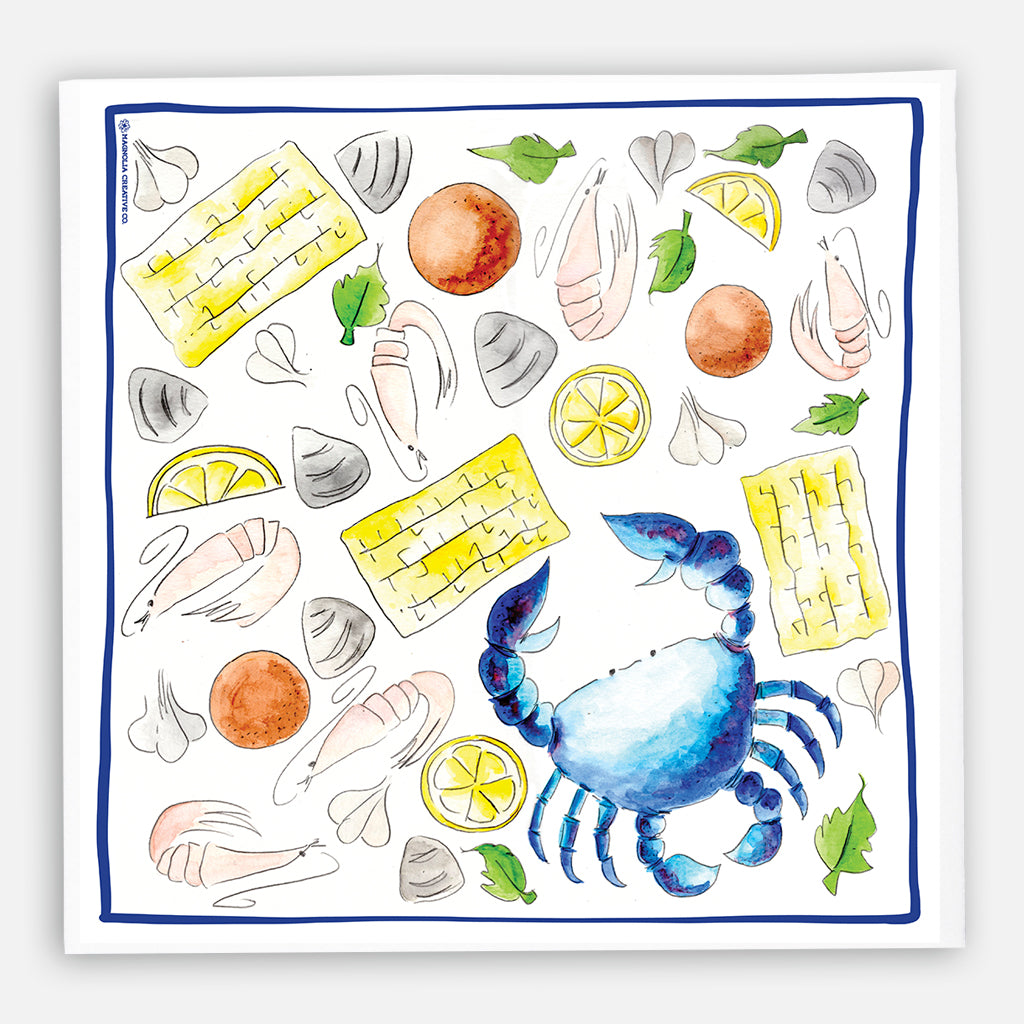 Summer Seafood Kitchen Towel