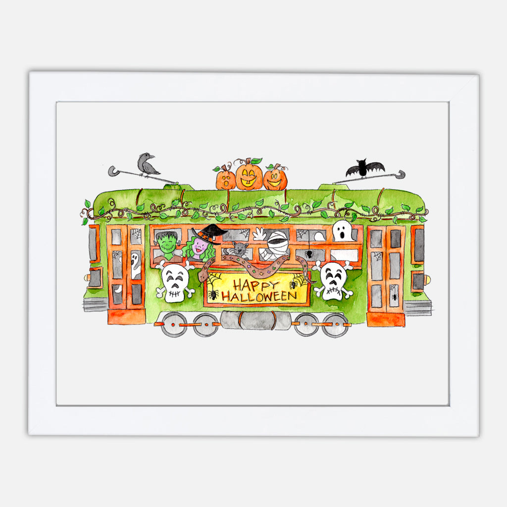 Halloween Trolley Art Print