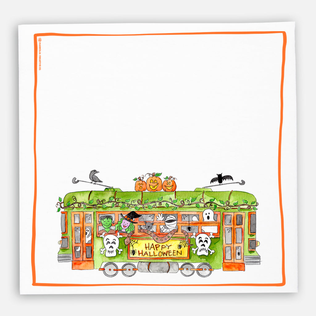 Halloween Trolley Kitchen Towel