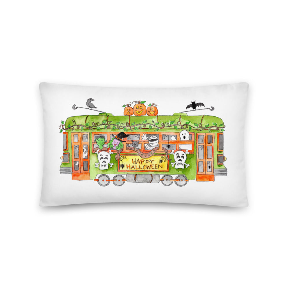 Halloween Trolley Lumbar Pillow