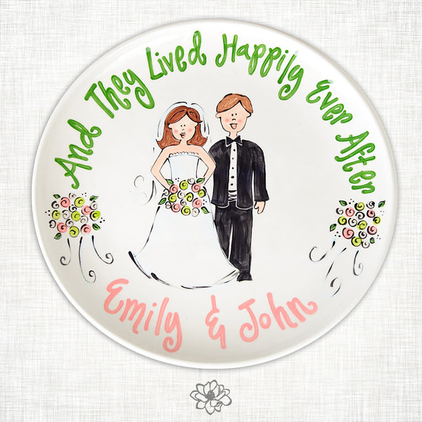 Custom Wedding Plate