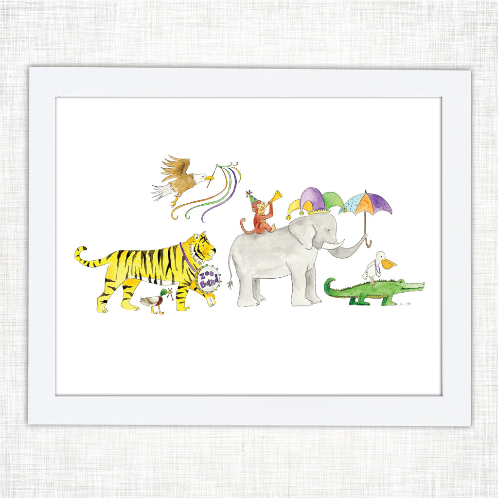 Zoo Band Art Print