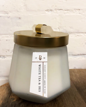 Crystal clear candle - white tea + iris