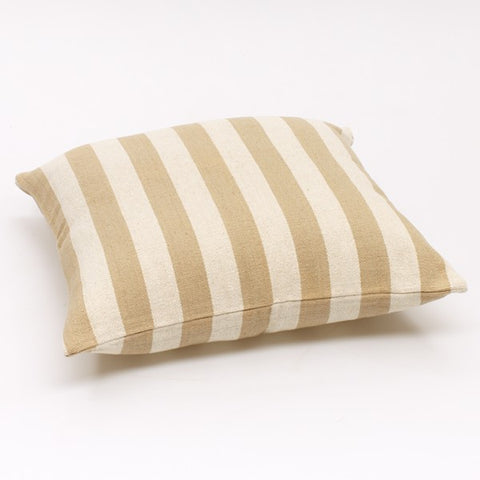 WS Solid Stripe Cushion Cream / Off White