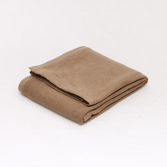 Cashmere blanket in Taupe