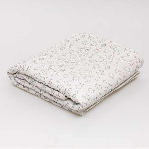 Matching coverlet, also available