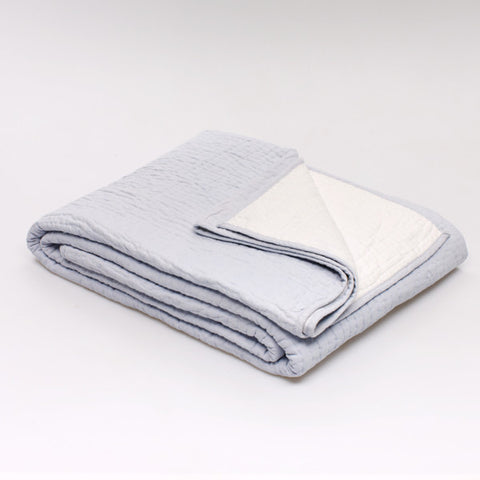 Piquey Coverlet: Blue