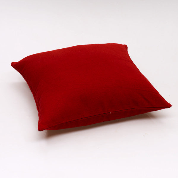 Jole'Home Solid cotton cushion in Red