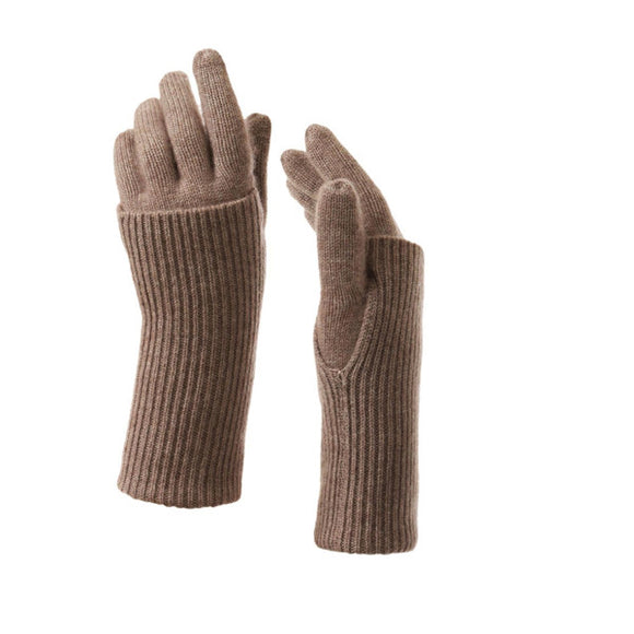 Cashmere Fold over gloves