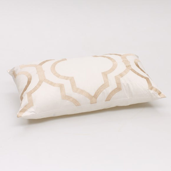 Venice long cushion White Champagne