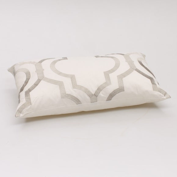 Venice long cushion Silver