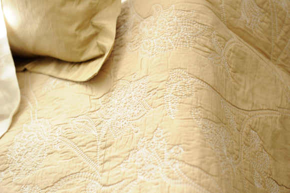 May Coverlet and scatter Set: Taupe