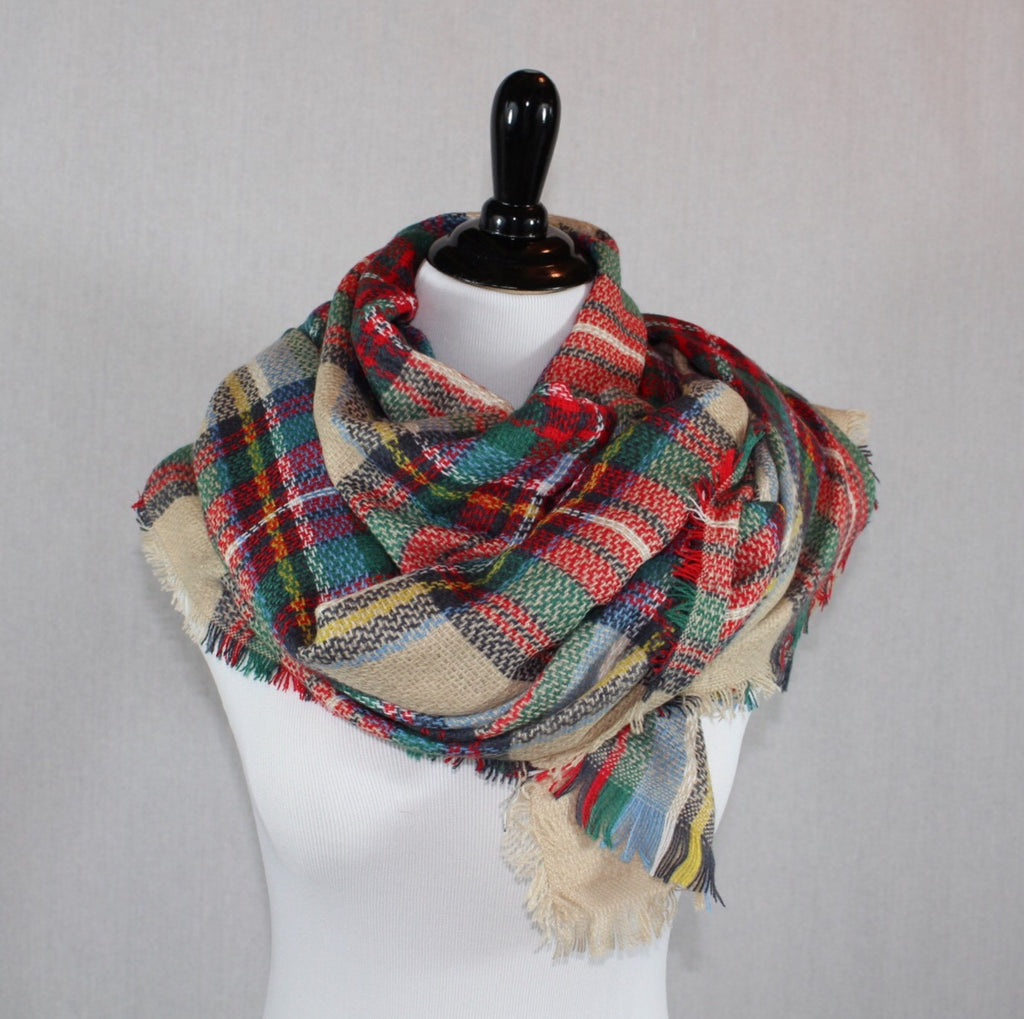 Plaid Blanket Scarf - dirty south provisions