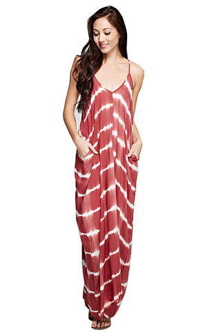 Lovestitch Women's Cocoon Maxi Dress Red