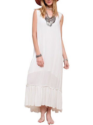 Easel Women's Maxi Dress White