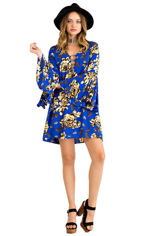 Entro Women's Floral Print Shift Dress