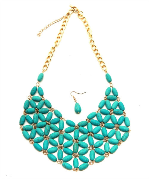 Turquoise Statement Necklace Set - dirty south provisions