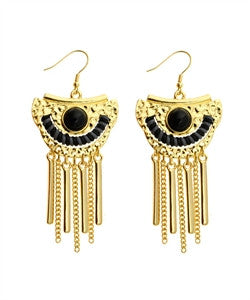 Black and Gold Earrings - dirty south provisions