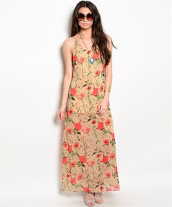 Red Floral Dress - dirty south provisions