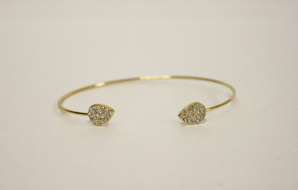 Sparkly Pave Teardrop Ends Open Bracelet - dirty south provisions