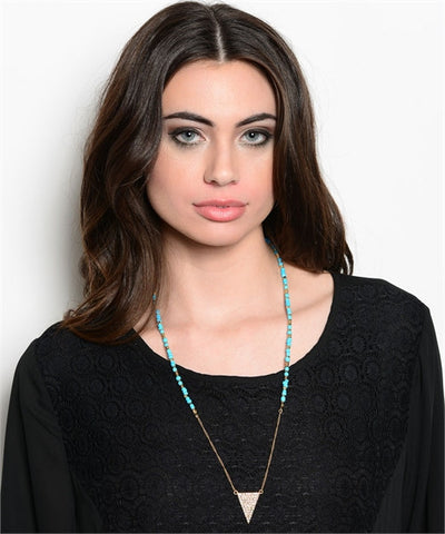 Gold with Turquoise Necklace