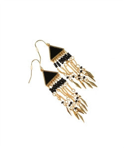 Gold and Black Earrings