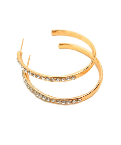 Hoop Earrings with Crystal Accents