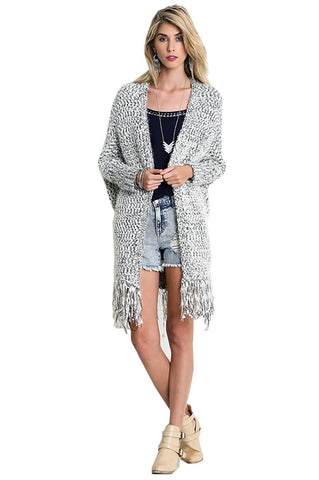 Umgee Black and White Cardigan