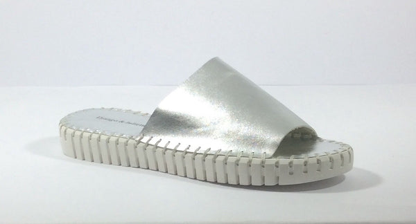 Django and Juliette - Harding - Silver Leather Slide - Sole Sister Shoes