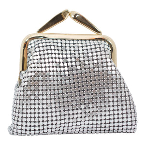 Mesh Coin Purse - Silver - Sole Sister Shoes