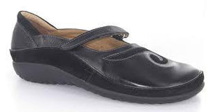 Naot - Matai - Black Madras Leather Suede - Free Shipping - Sole Sister Shoes
