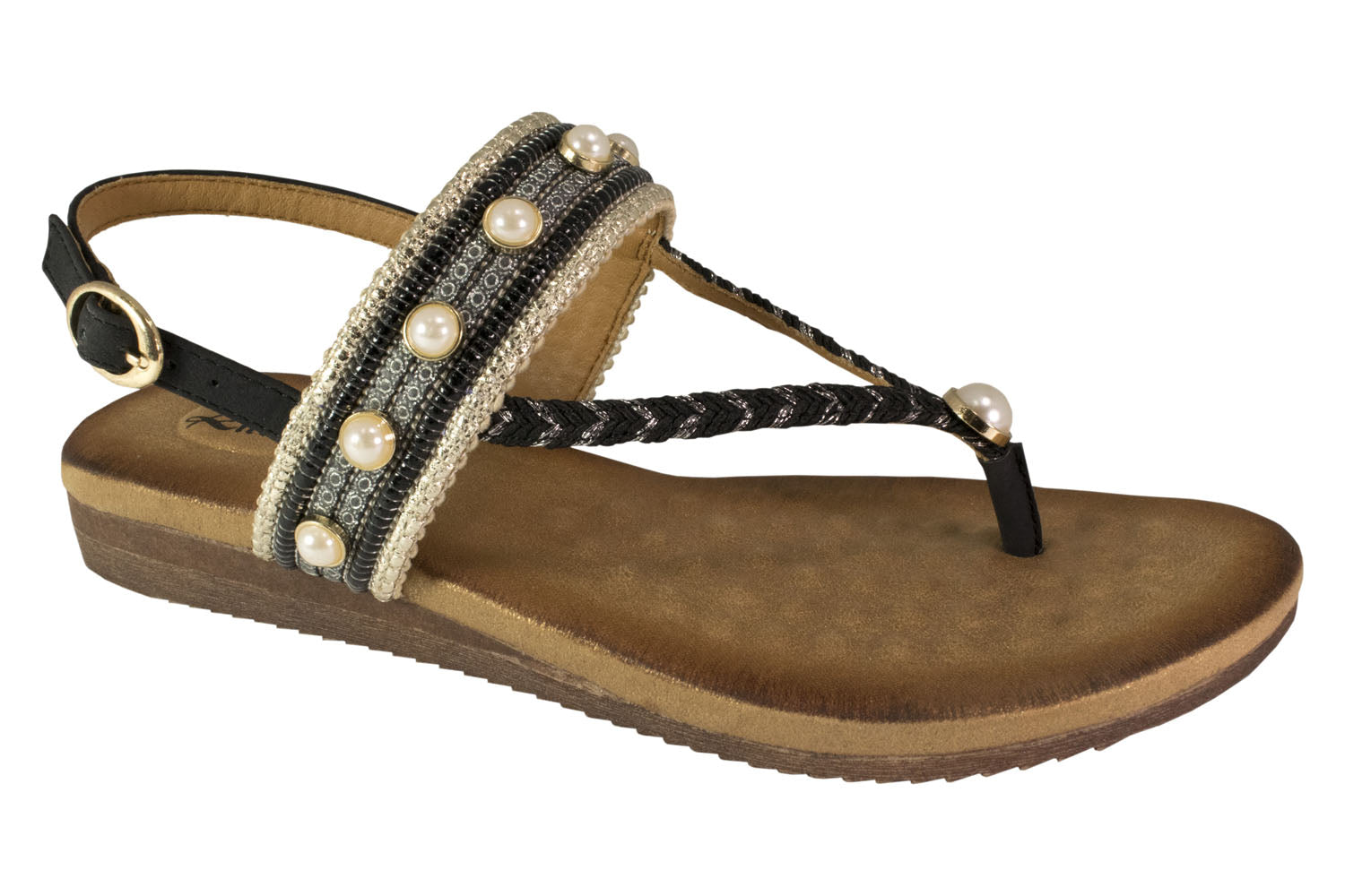 Kirra Beach Sandals - Tilly - Black - Sole Sister Shoes