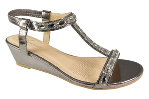 Kirra Beach Sandals - Gaura - Pewter Bling - Sole Sister Shoes