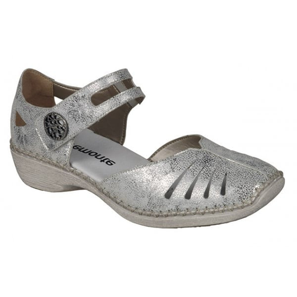 Rieker Comfort Shoes - D1636-81 - Metallic Floral