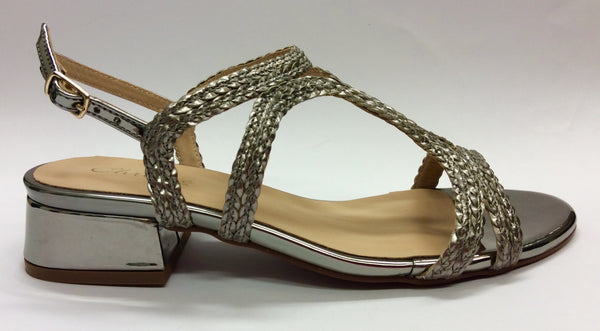 Chrissie - Fayne - Pewter Sandal - Sole Sister Shoes