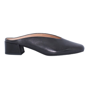 Nu by Neo - Fan - Black Leather Mule