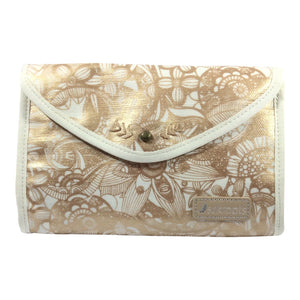Sakroots Artist Circle Flap Cosmetic Bag - Rose Gold Spirit Desert
