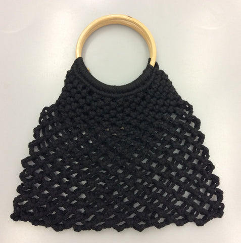 Rope Net Bag - Black - Rope
