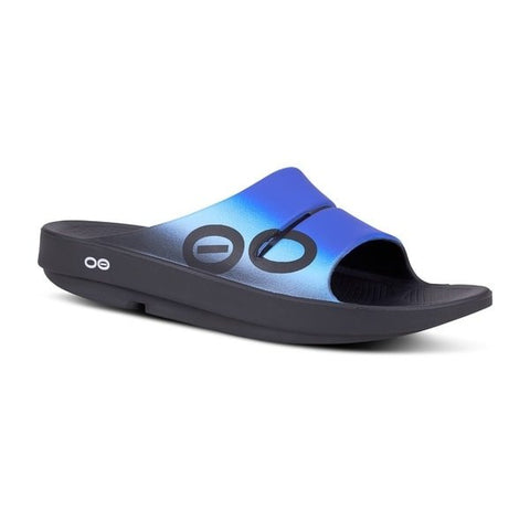 Oofos - OOahh Sport - Slides - Navy Royal Wave
